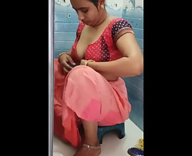 Exotic Indian Housewife Taking Shower in Saree Stripped Naked