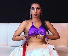 Desi Wife Honeymoon Night Stripping To Seduce Her Young Husband